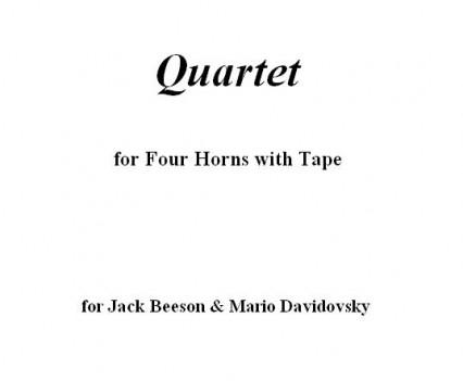 Horn Quartet Portfolio