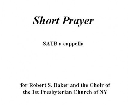 Short Prayer Portfolio
